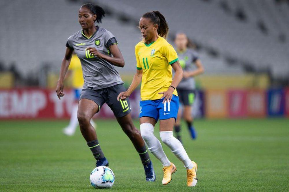 Seleção feminina tentará uma das 32 vagas para o mundial de 2023. - Mariana Sá/CBF/Direitos Reservados