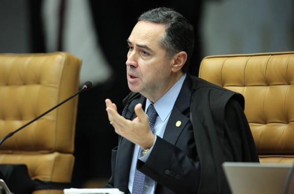 O ministro Luis Roberto Barroso, do Supremo Tribunal Federal (STF), durante julgamento na Corte (Foto: Carlos Moura/STF)