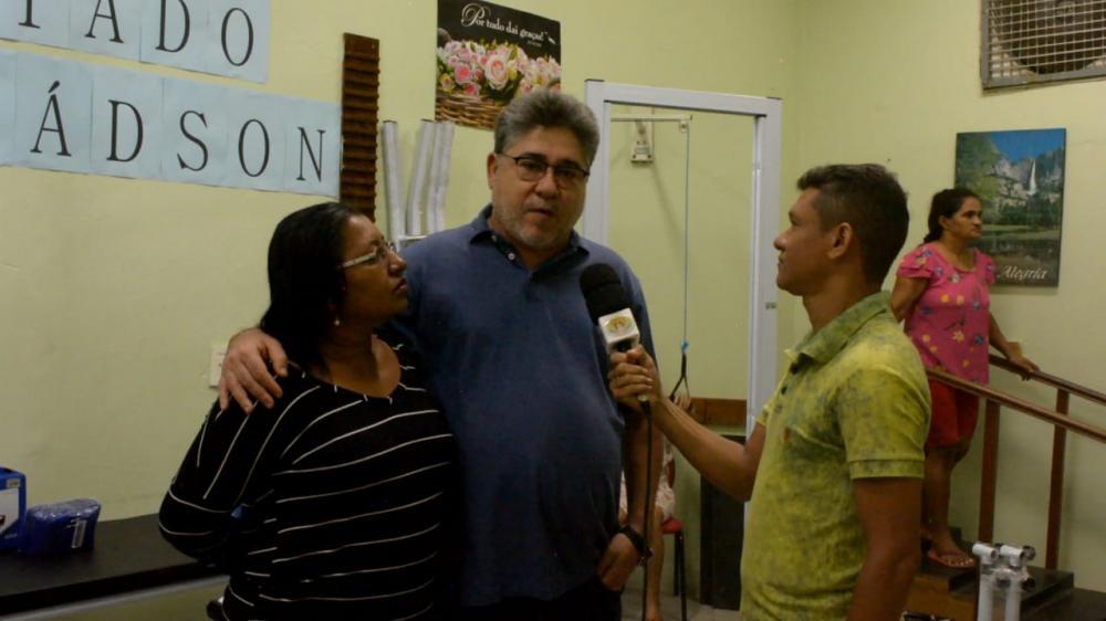 Foto: Jonys José: Dep. Estadual João Mádison e a Presidente Fundação Viver com Dignidade Marícildes Silva