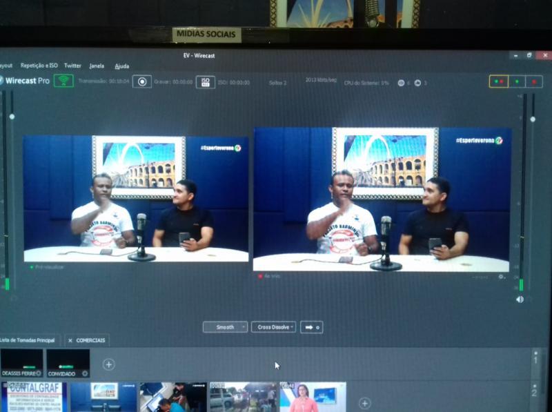 Esporte Verona - Ao Vivo Deassis Ferreira e Noé Santos, hoje com presença dos representantes da ASBAGDI